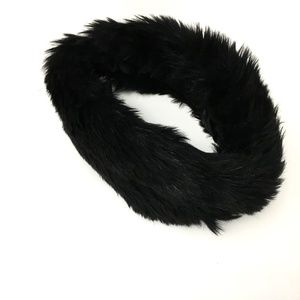 Jasper Conran Black Faux Fur Headband
